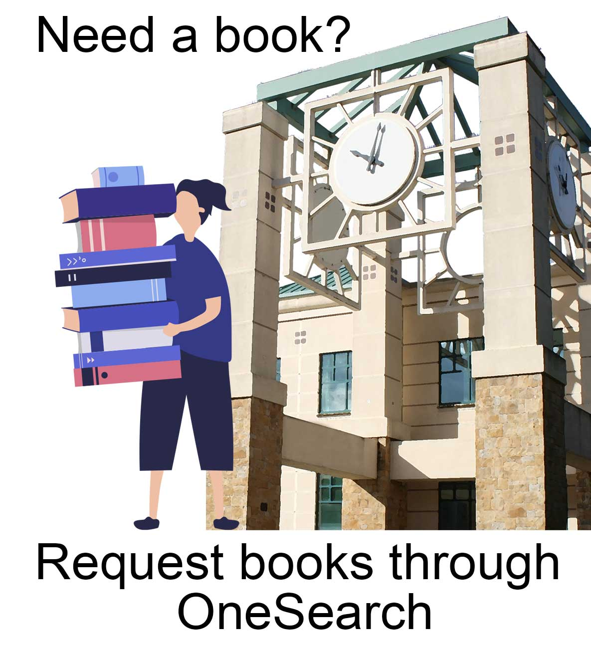 Need a Book?  Request books through OneSearch