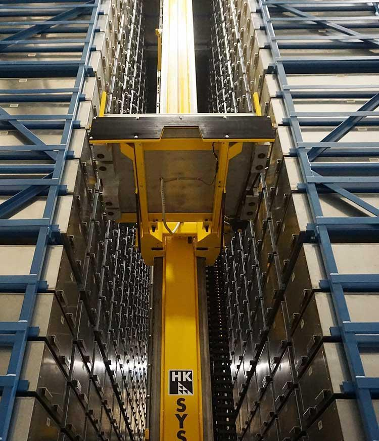 Picker selected a bin in the Automated Retrieval System