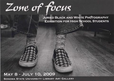 Zone of foucs, juried black and white photography exhibit for high school students.