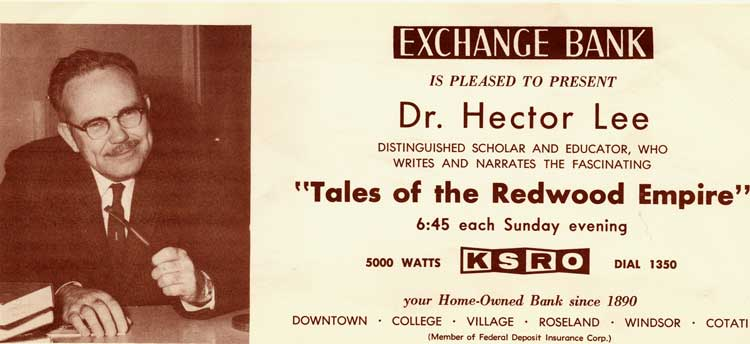 Advertisement for Dr Hector Lee radio show