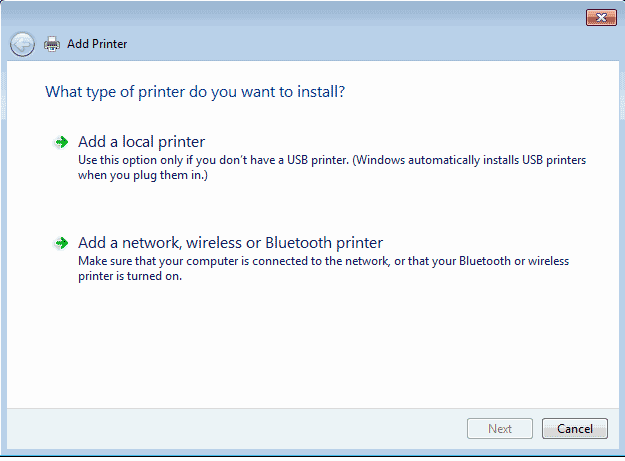 Add a local printer screenshot.