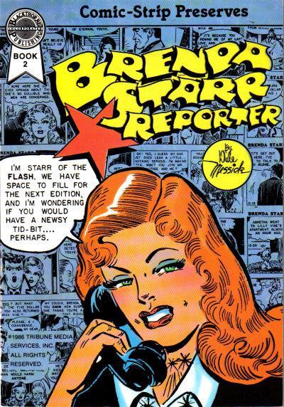 Comic panel Brenda Starr on the hone.  Comic Strip Preserves, Brenda Starr Reporter.