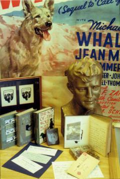 Bust of Jack London, Movie poster of Call of the Wild