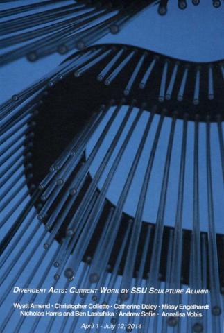 Divergent Acts: Current Work by SSU Sculpture Alumni, Artist(s):  Wyatt Amend Christopher Collette Catherine Daley Missy Engelhardt Nicholas Harris Ben Lastufska Andrew Sofie Annalisa Vobis