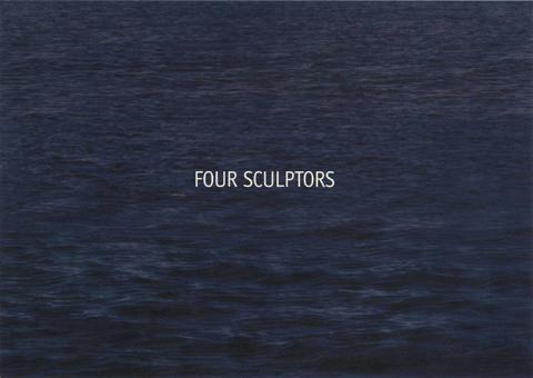Four Sculptors text over ocean water