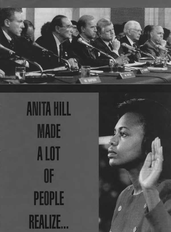Anita Hill talking to Congress